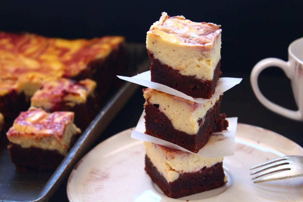 brownie cream cheese framboises