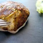 Mozzarella panée aux pistaches