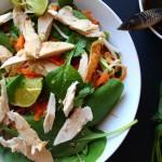 Salade façon thaïe au poulet