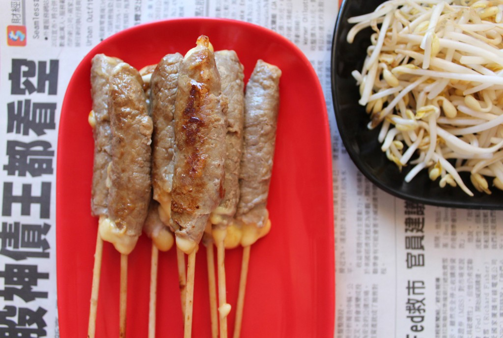 yakitori boeuf fromage