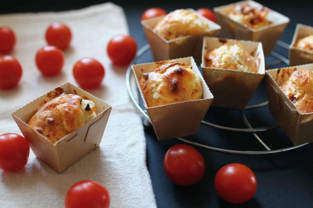 cakes tomates chevre pignons