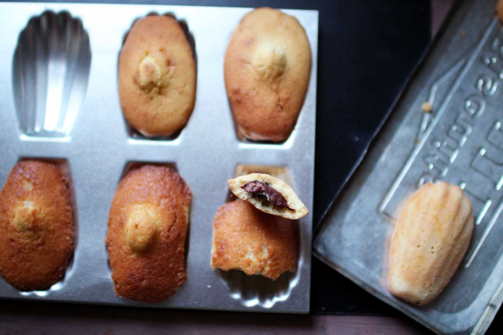 madeleines commercy fourrees nutella