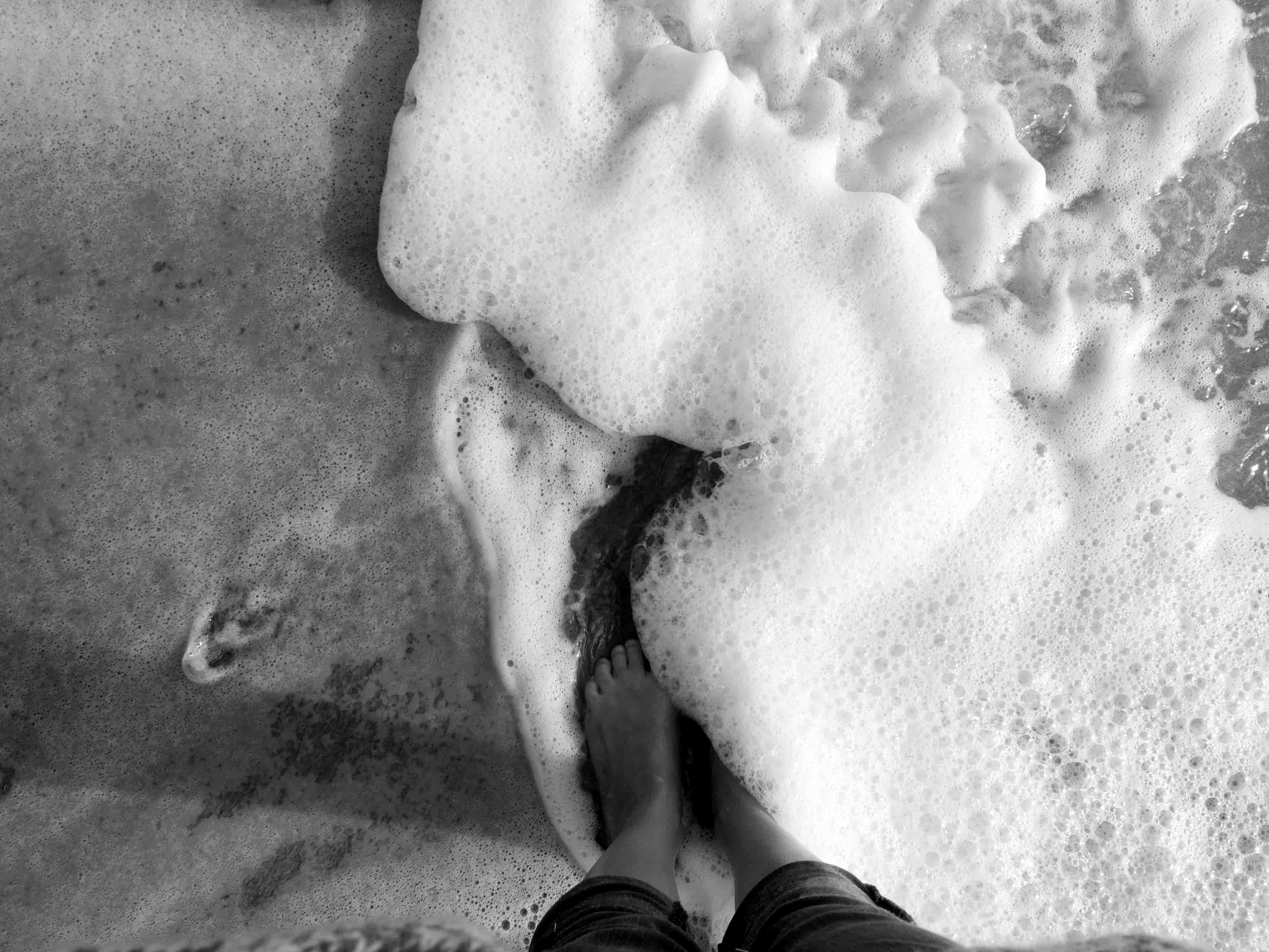 mer pieds