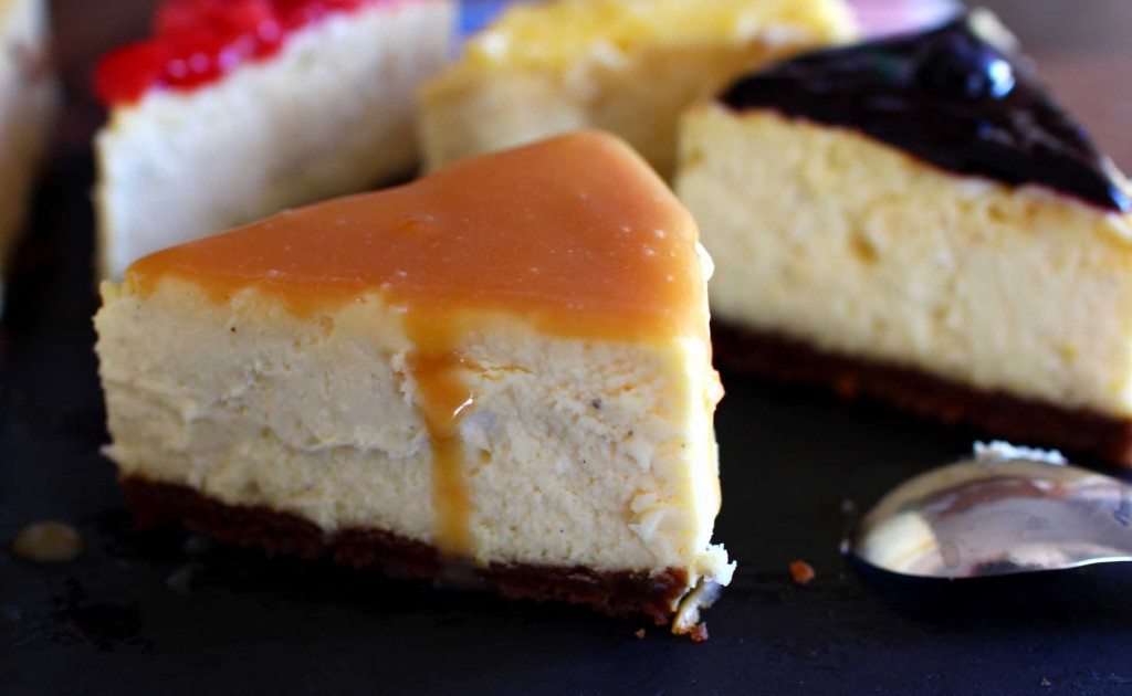 cheesecake new york topping caramel