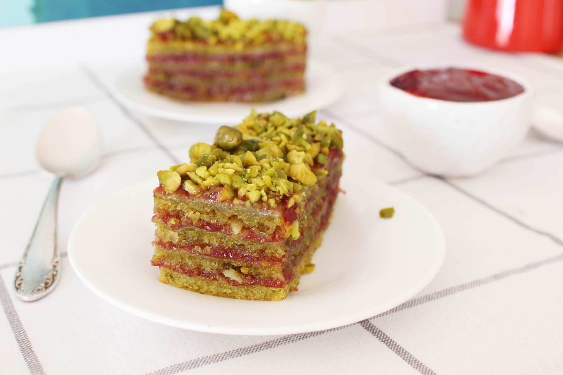 cake pistache fraises groseilles recette