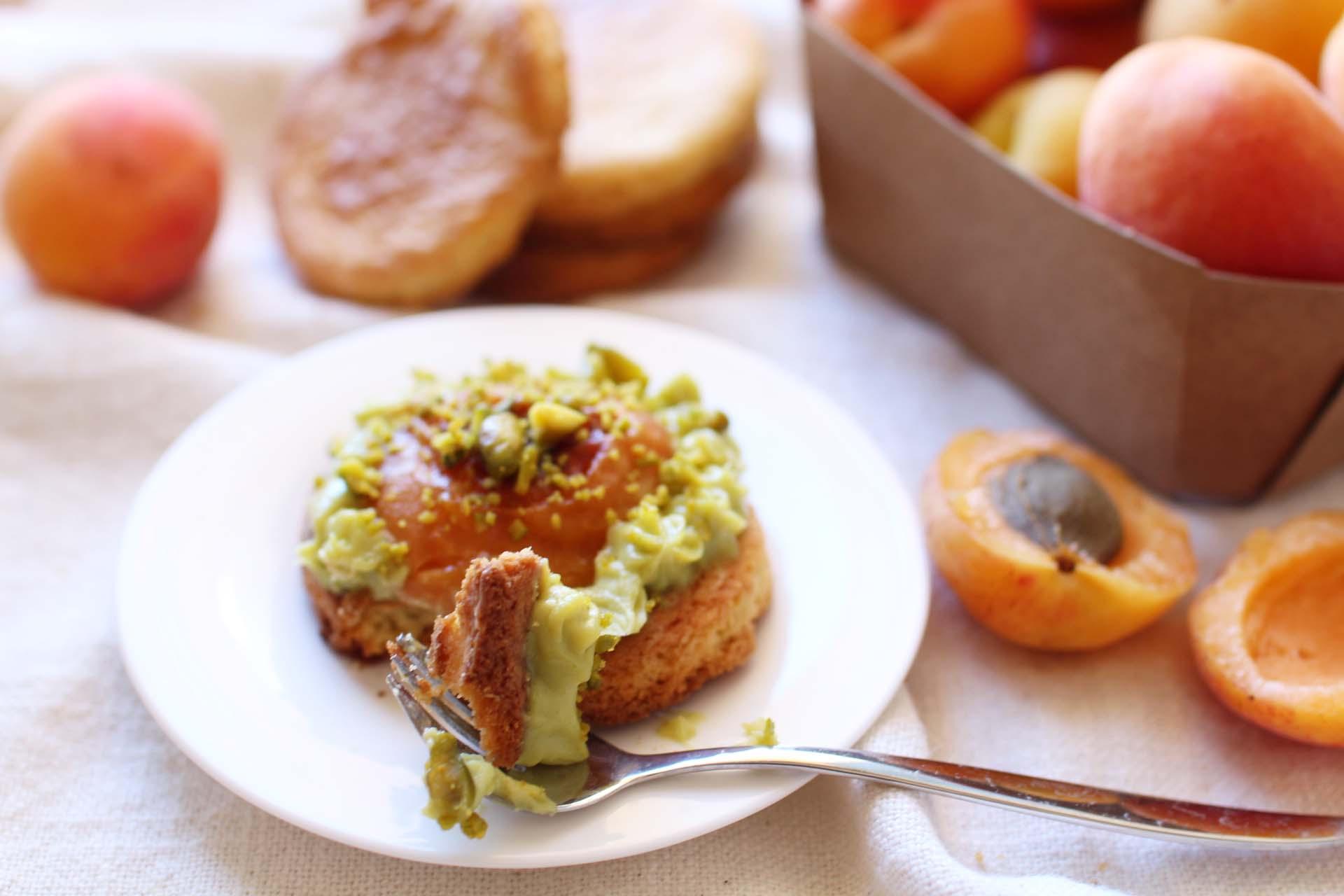 recette sables bretons abricots pistache christophe adam