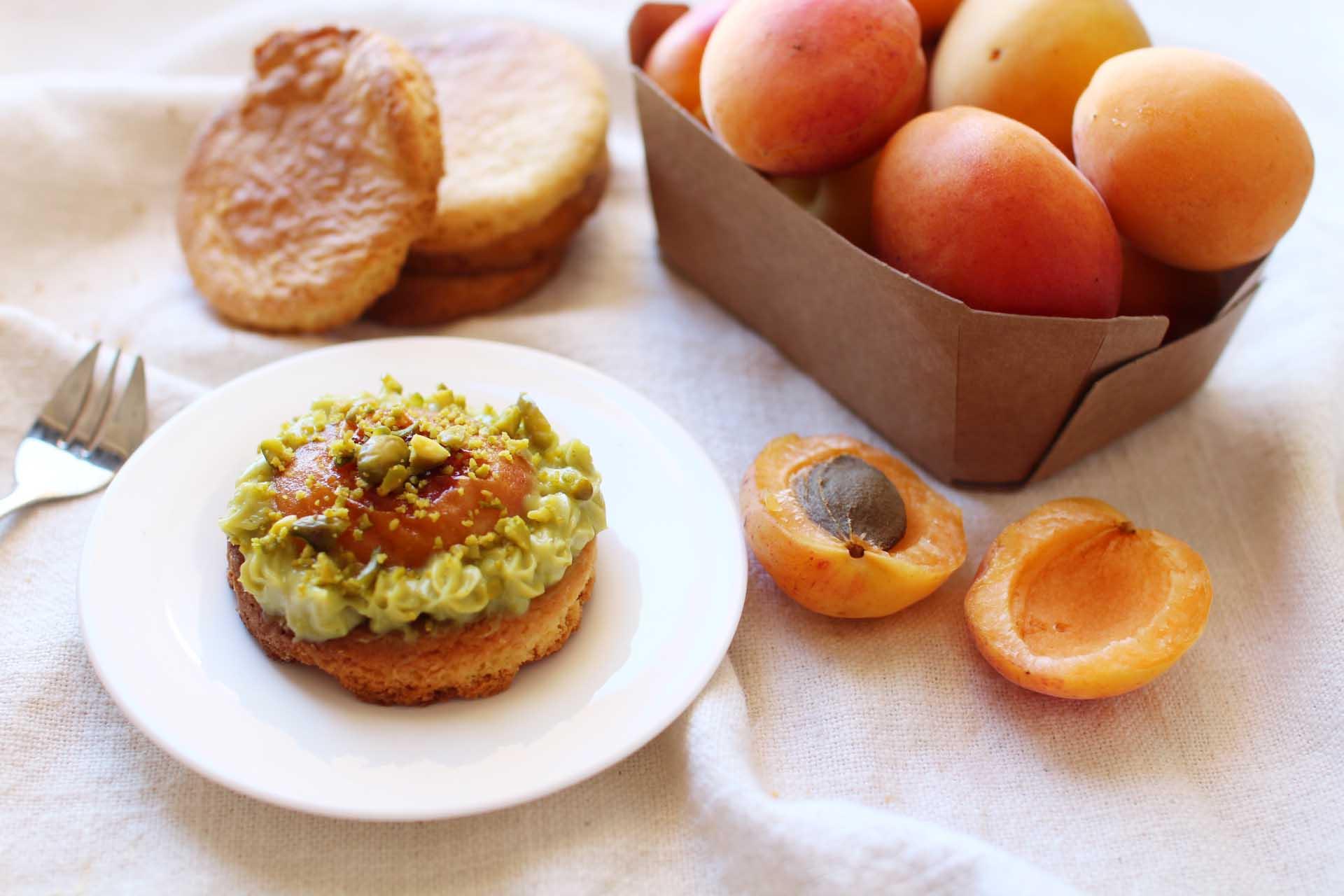 recette sables pitache abricots christophe adam
