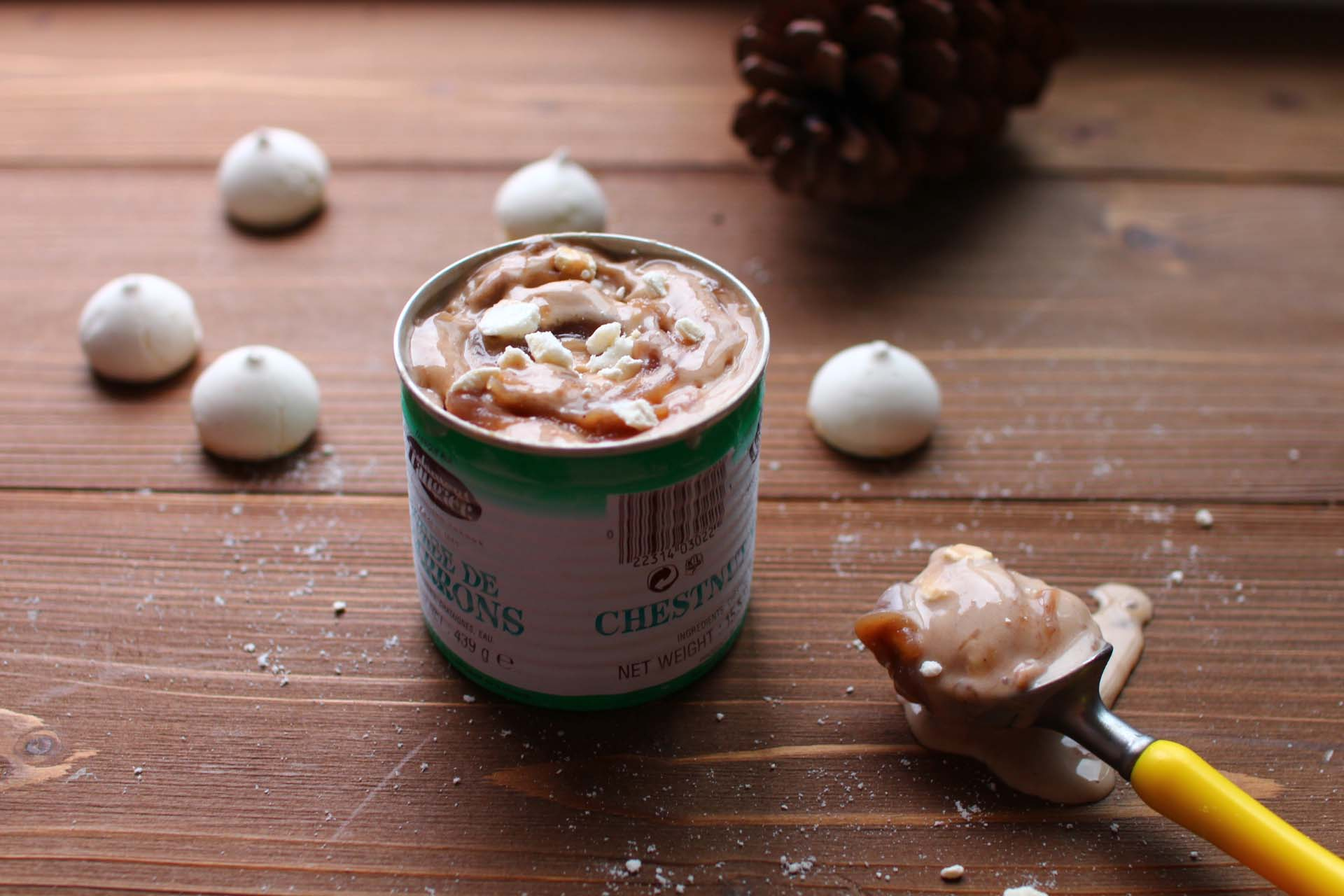 glace creme de marron meringue Glace marbrée aux marrons et à la meringue