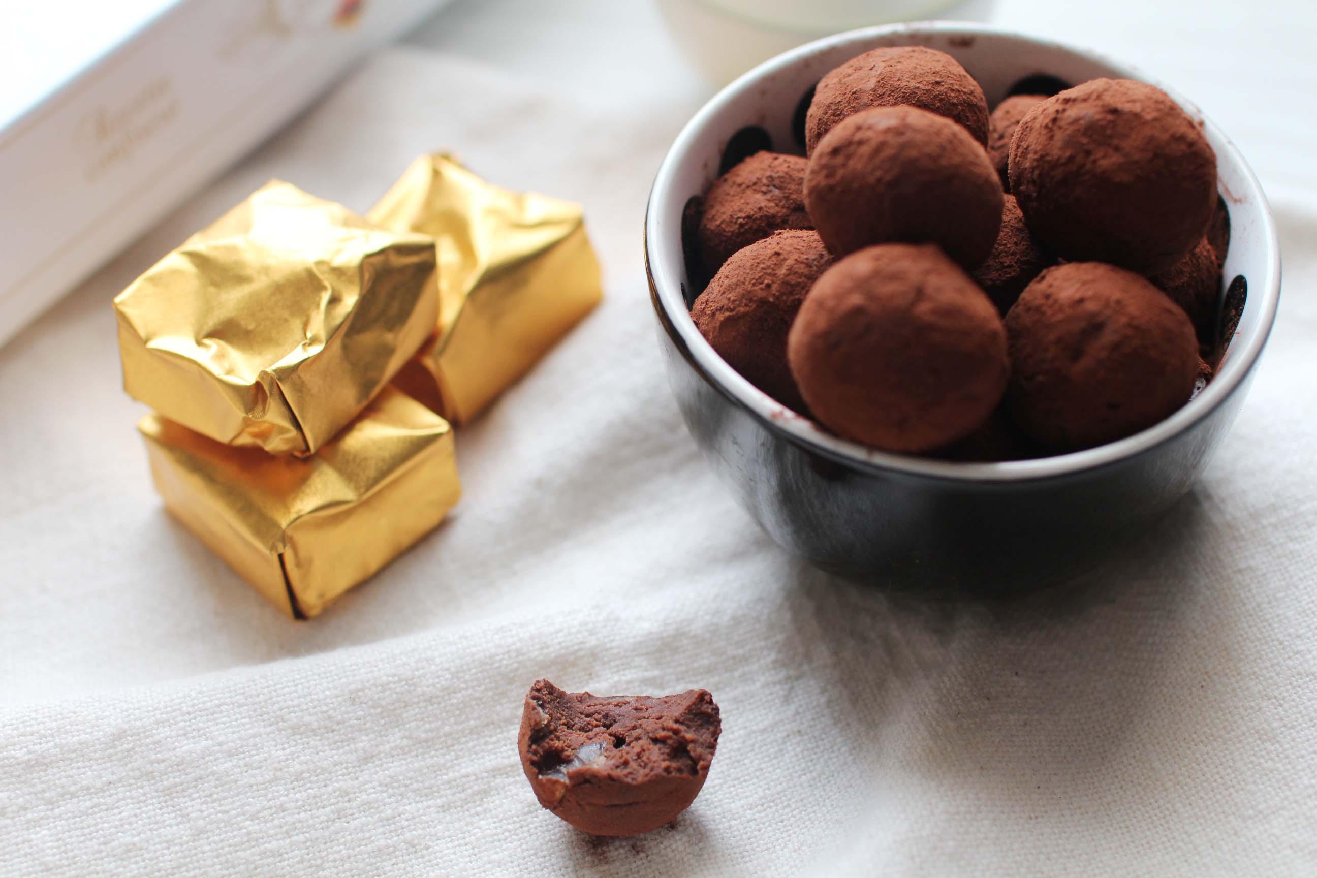 truffes marron 3 Truffes au chocolat et aux marrons