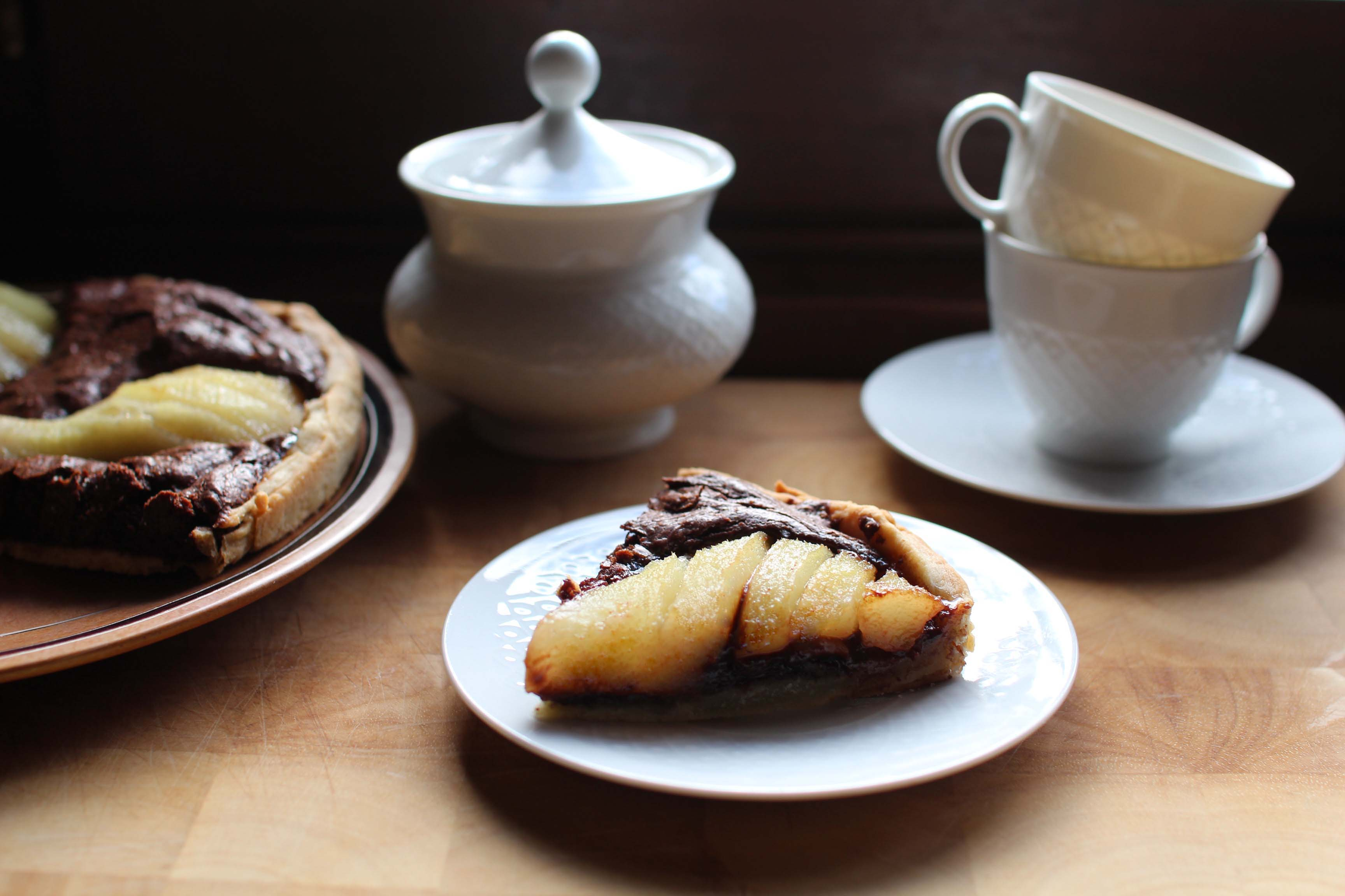 tarte chocolat poires noisettes pierre herme Tarte aux poires, aux noisettes et au chocolat