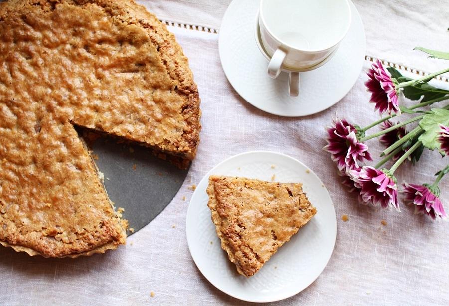 tarte cookie au chocolat et noix