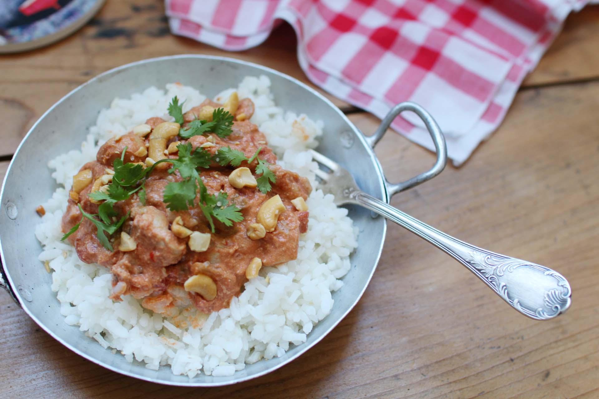 curry facile poulet noix cajou