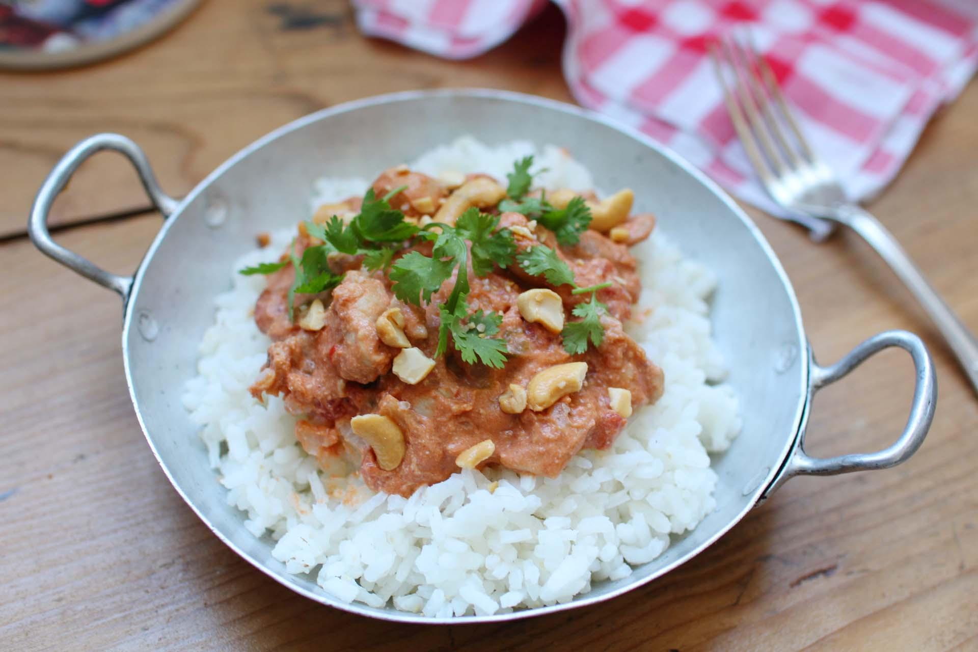 curry rapide poulet noix cajou