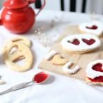 Love lunettes à la confiture de fraises et de framboises