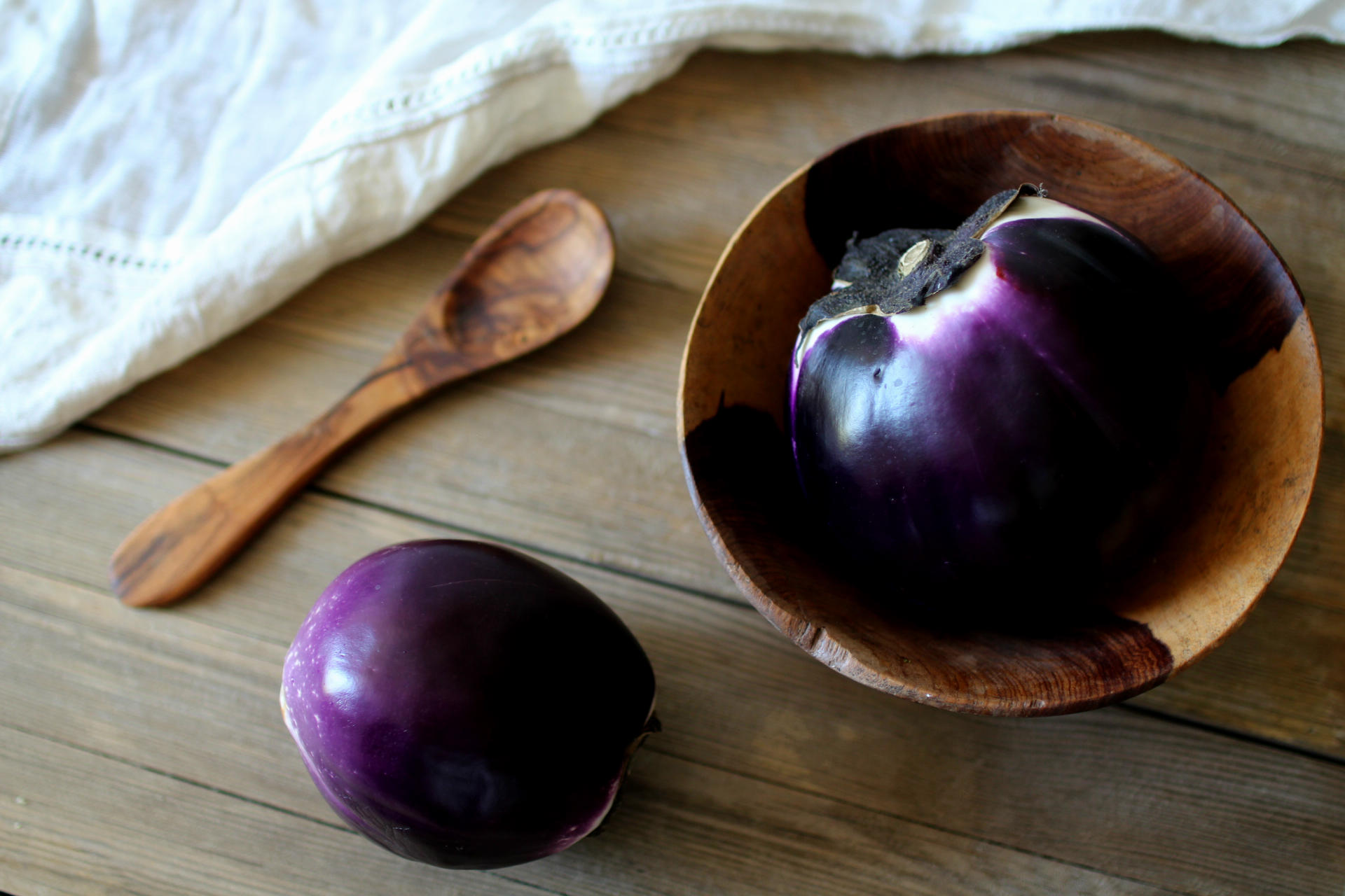 aubergine ronde baba ganoush