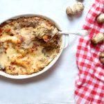 Lasagnes à la crème de cèpes et au parmesan