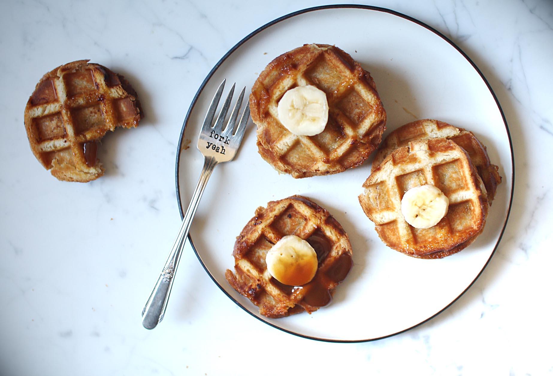 croques-gaufres-banane-caramel