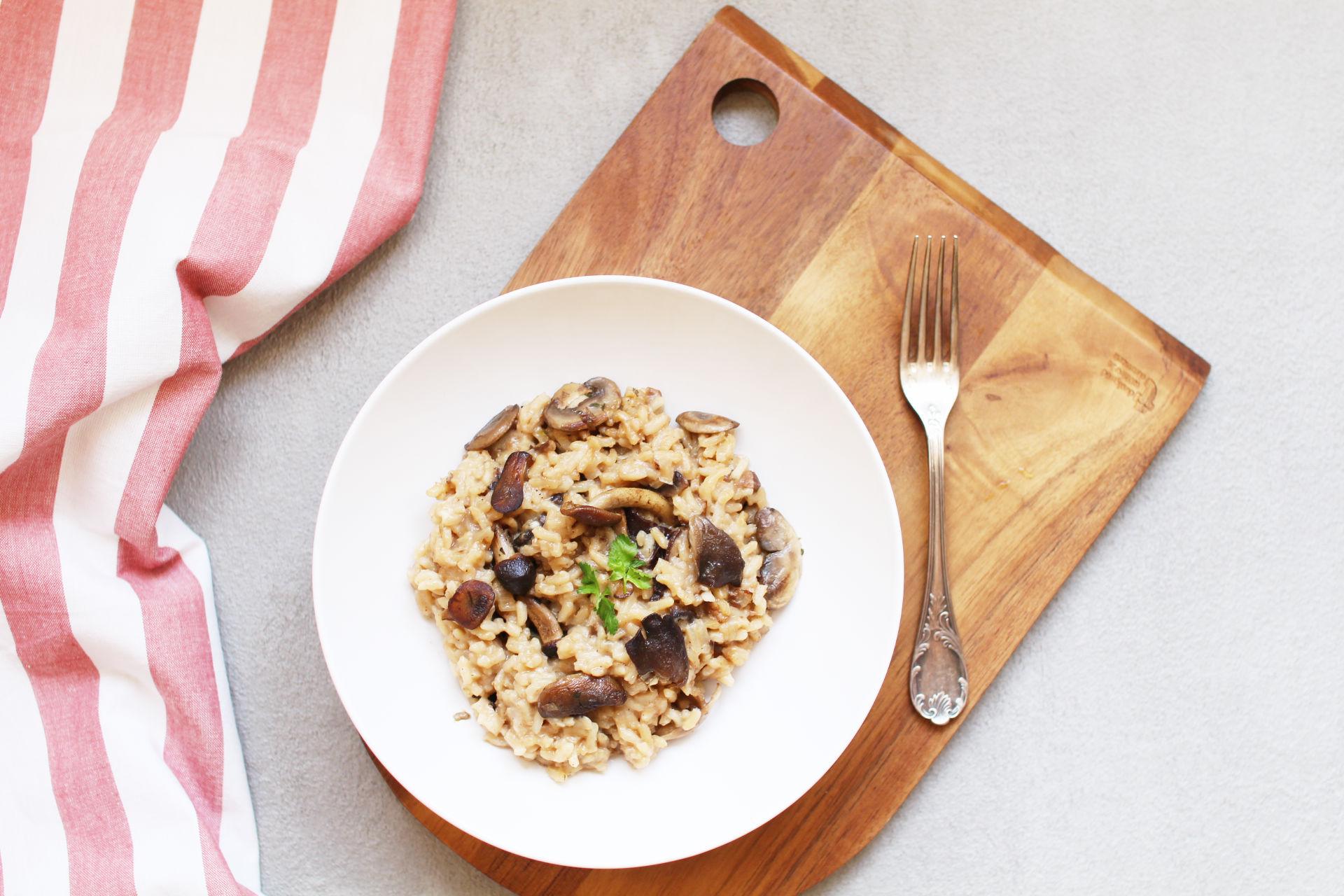 risotto cremeux champignons