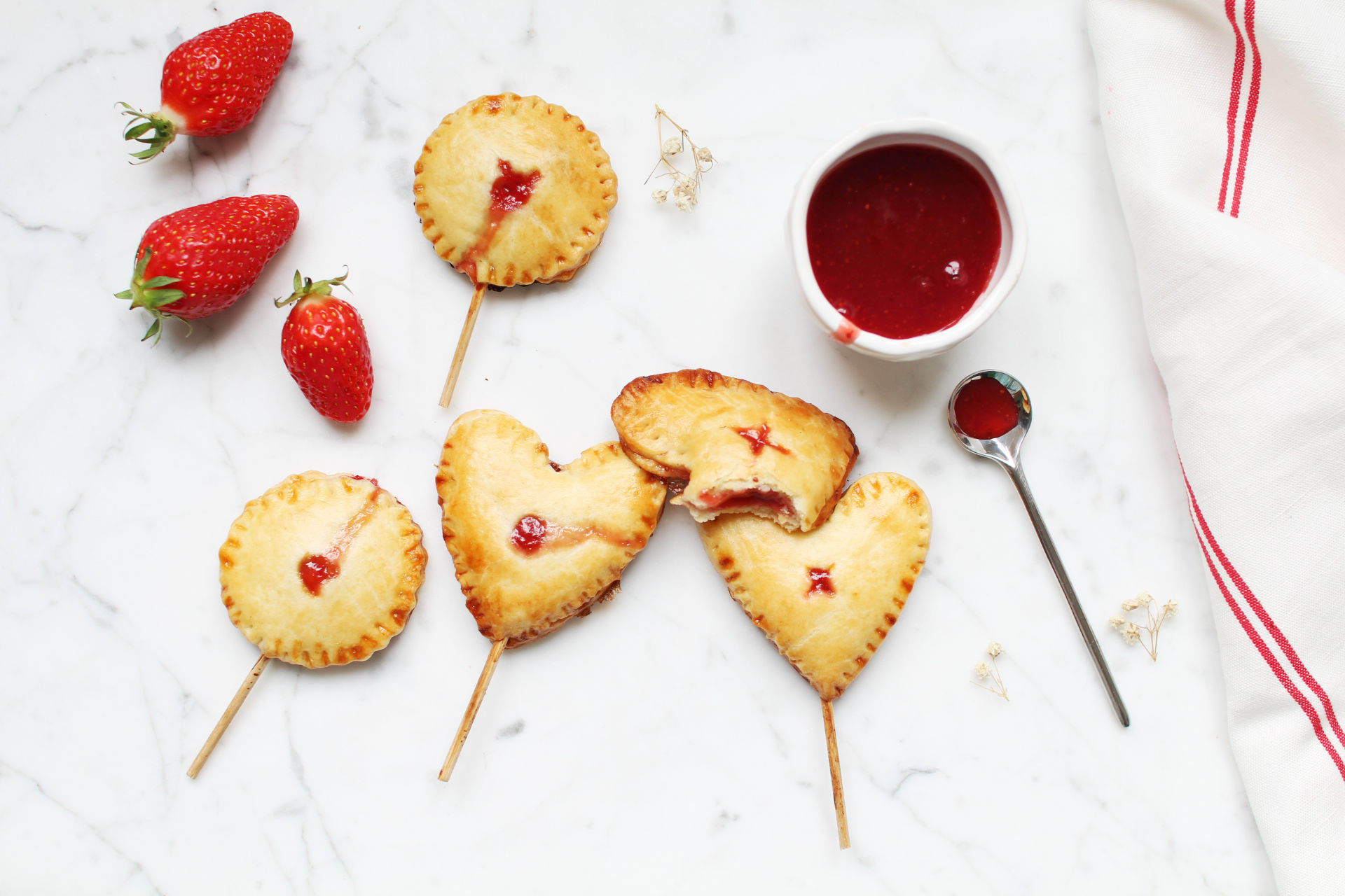pie pops recette tartelettes fraise royal chill blog cuisine