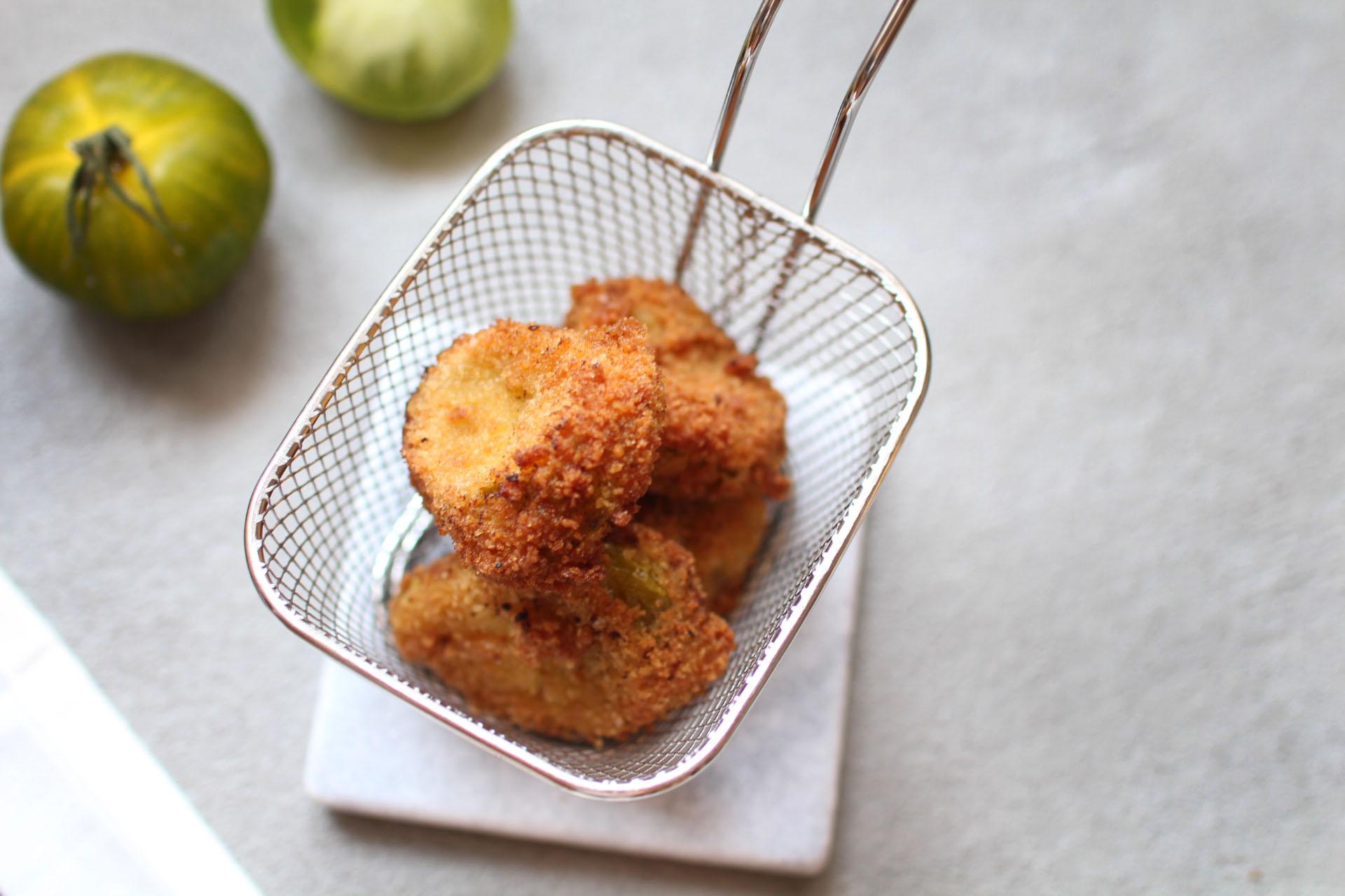 recette facile finger food aperitif beignets tomates vertes