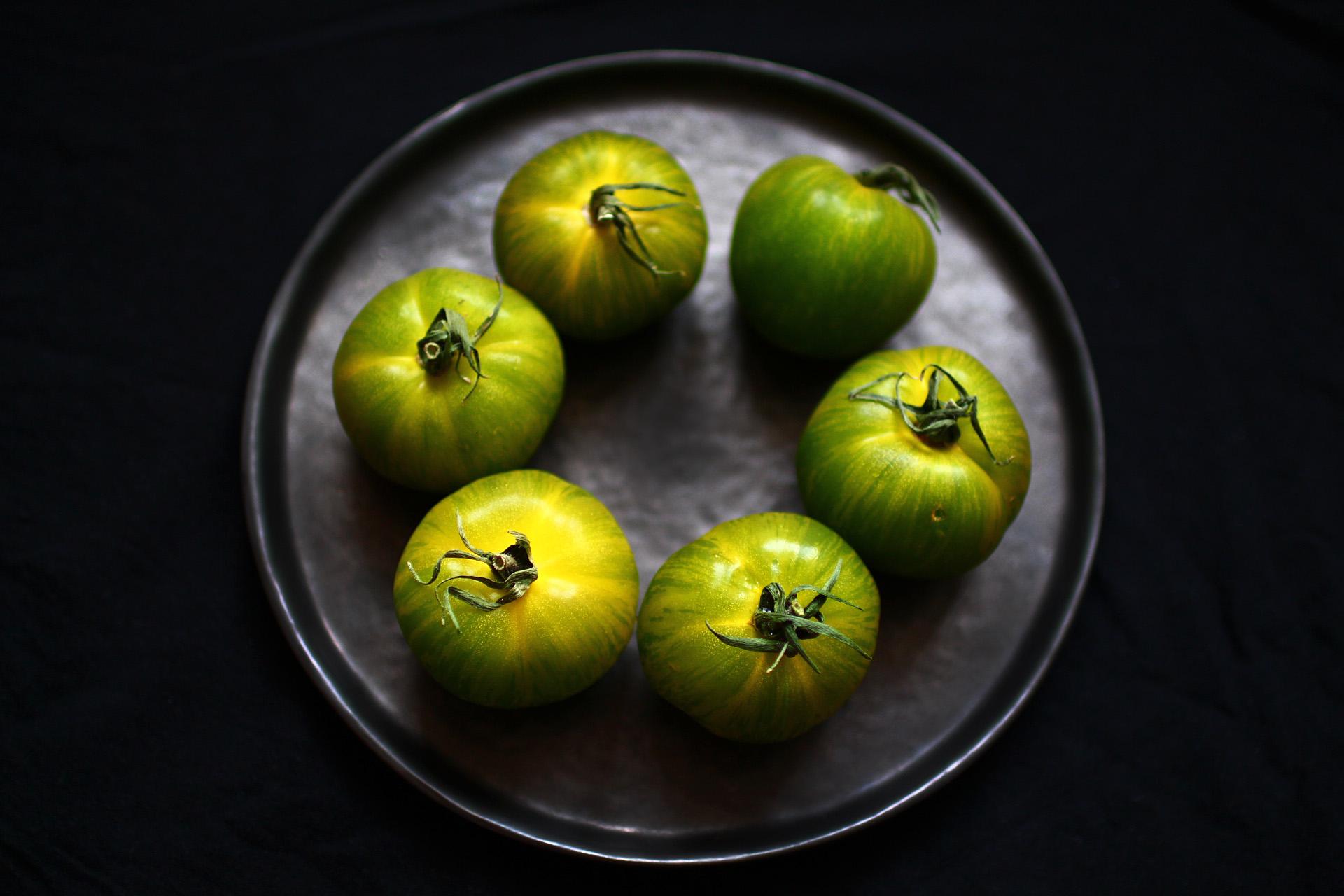 tomates vertes photographie cuisine recette beignets