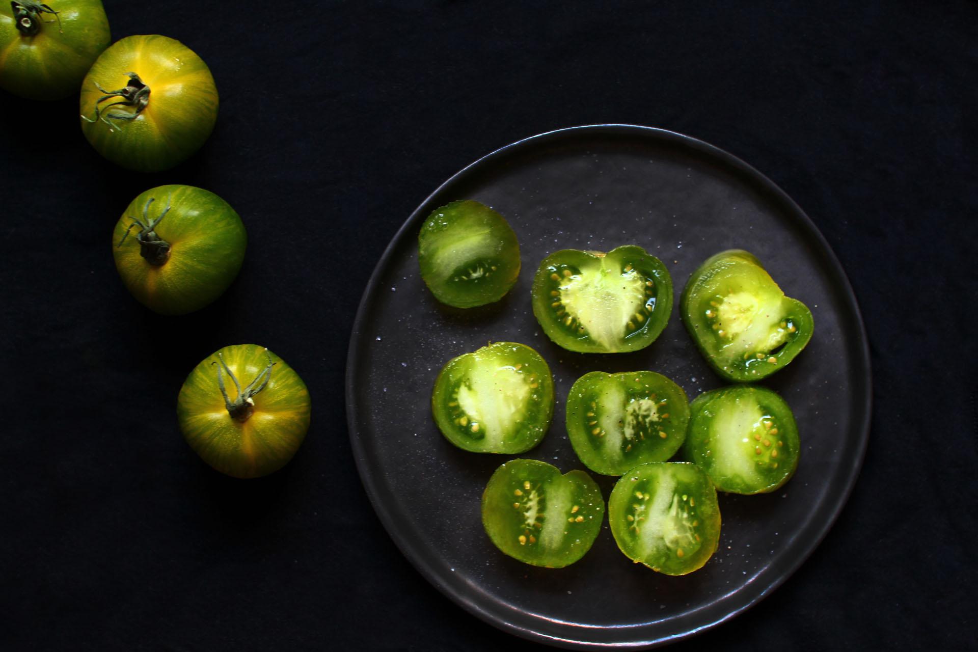 tomates vertes photographie cuisine recette blog