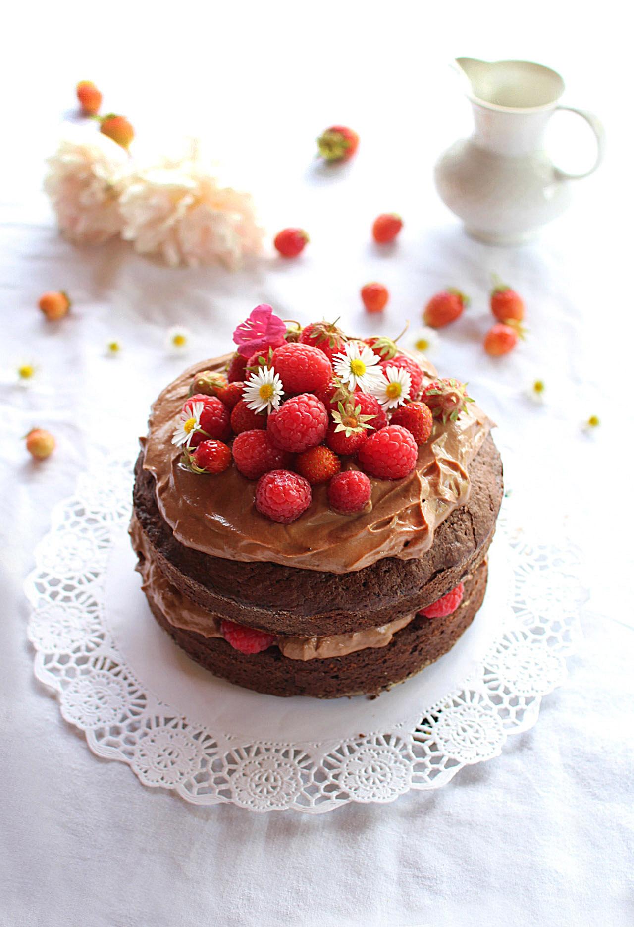 gateau chocolat mascarpone fruits blog cuisine royal chill