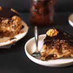 Gâteau moelleux aux noix, café et chocolat {sans gluten}