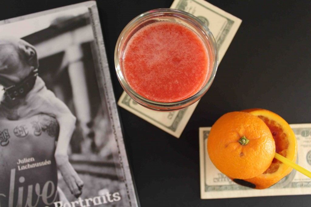 smoothie orange sanguine fraise