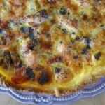 Tarte au saumon, poireaux et graines de pavot