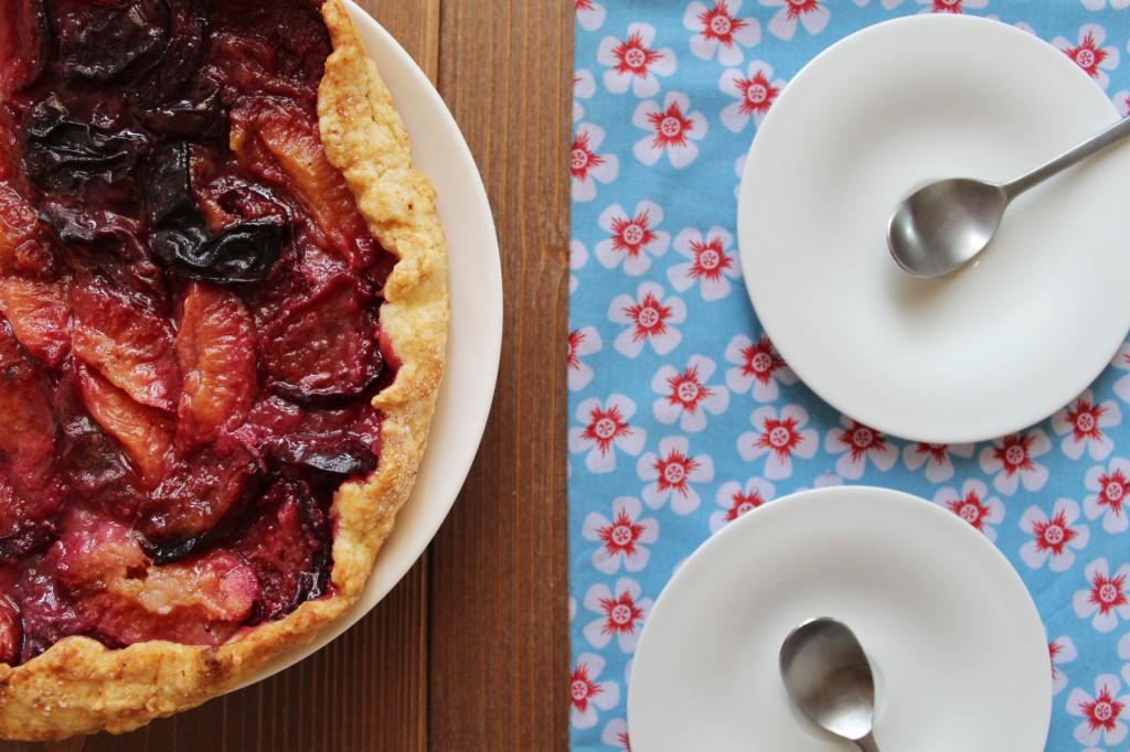 tarte aux prunes ou quetsches