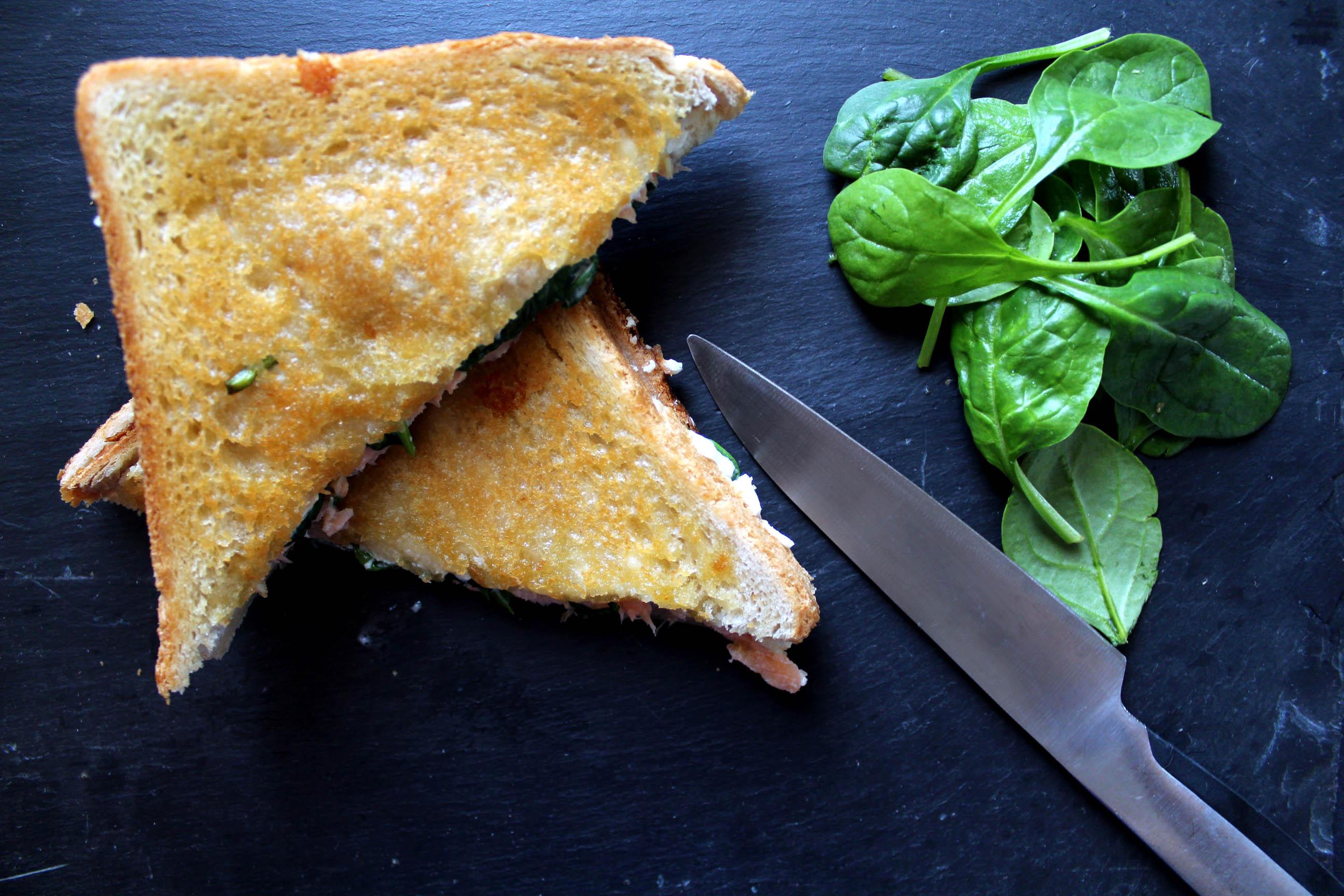 Croque Monsieur A La Poele croque saumon selon philippe conticini | royal chill - blog