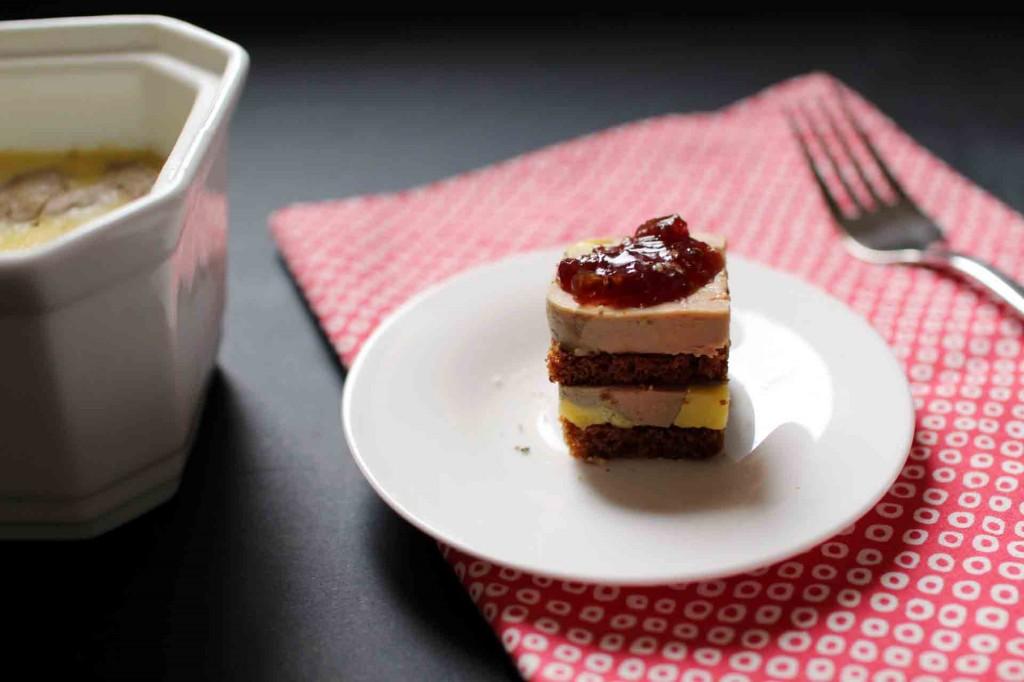 bouchees foie gras pain epices