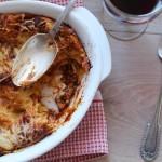Lasagnes au porc et au vin rouge