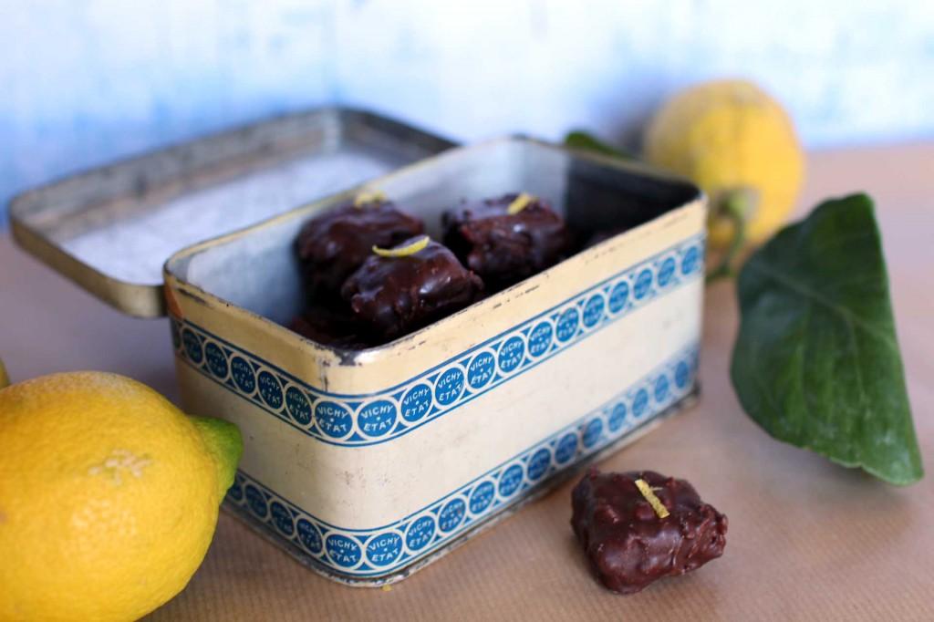 rochers praline citron chocolat