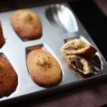 Madeleines de Commercy fourrées à la pâte à tartiner