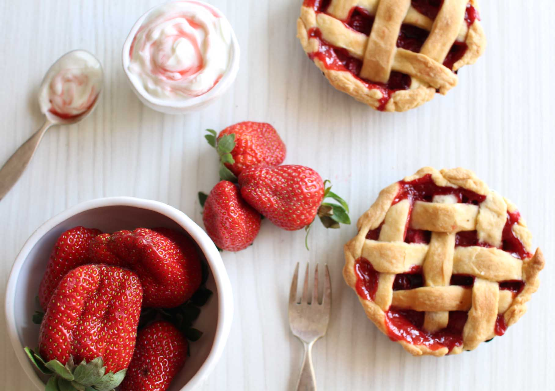 pie fraises
