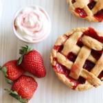 Mini pies aux fraises