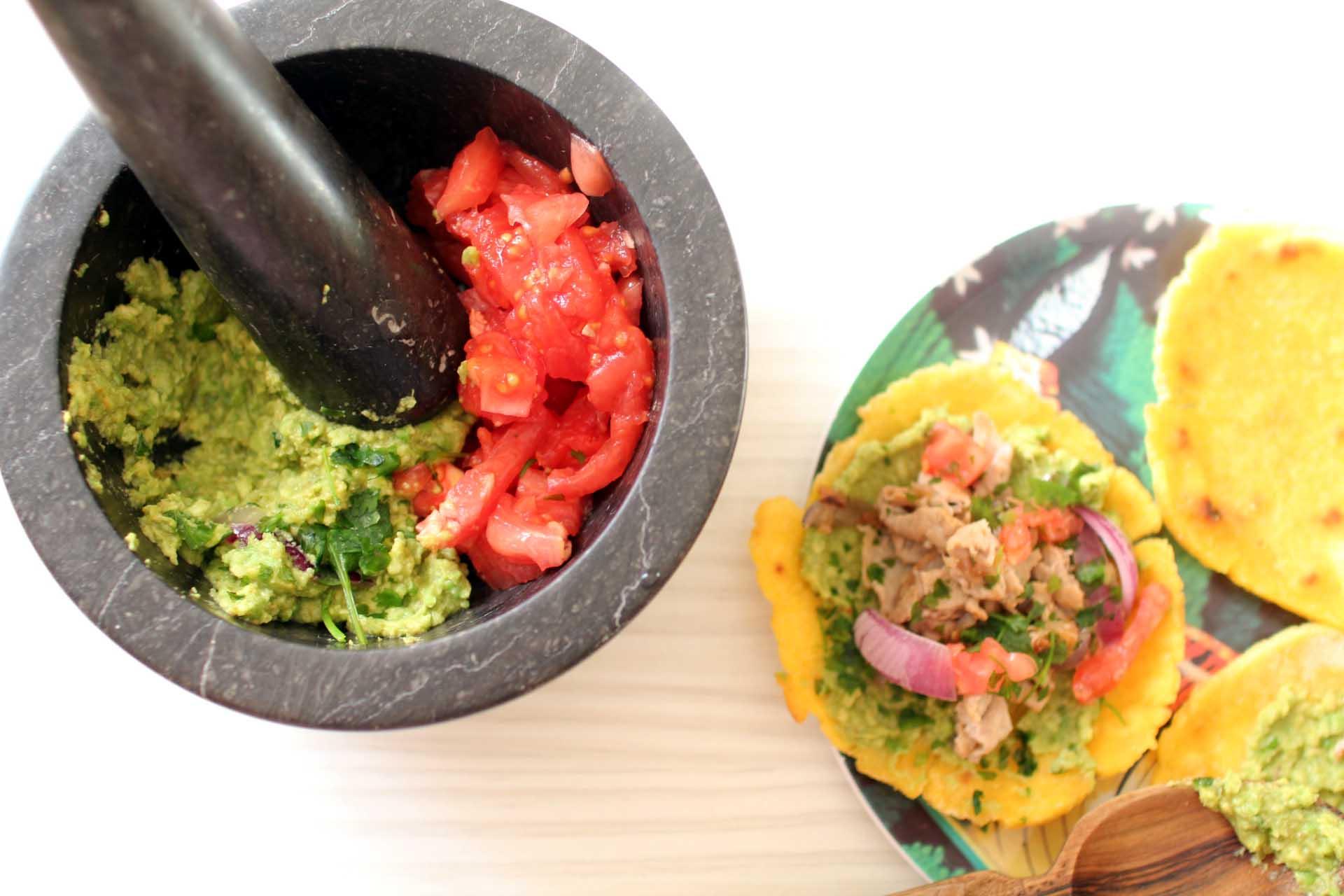 tacos galettes boeuf guacamole