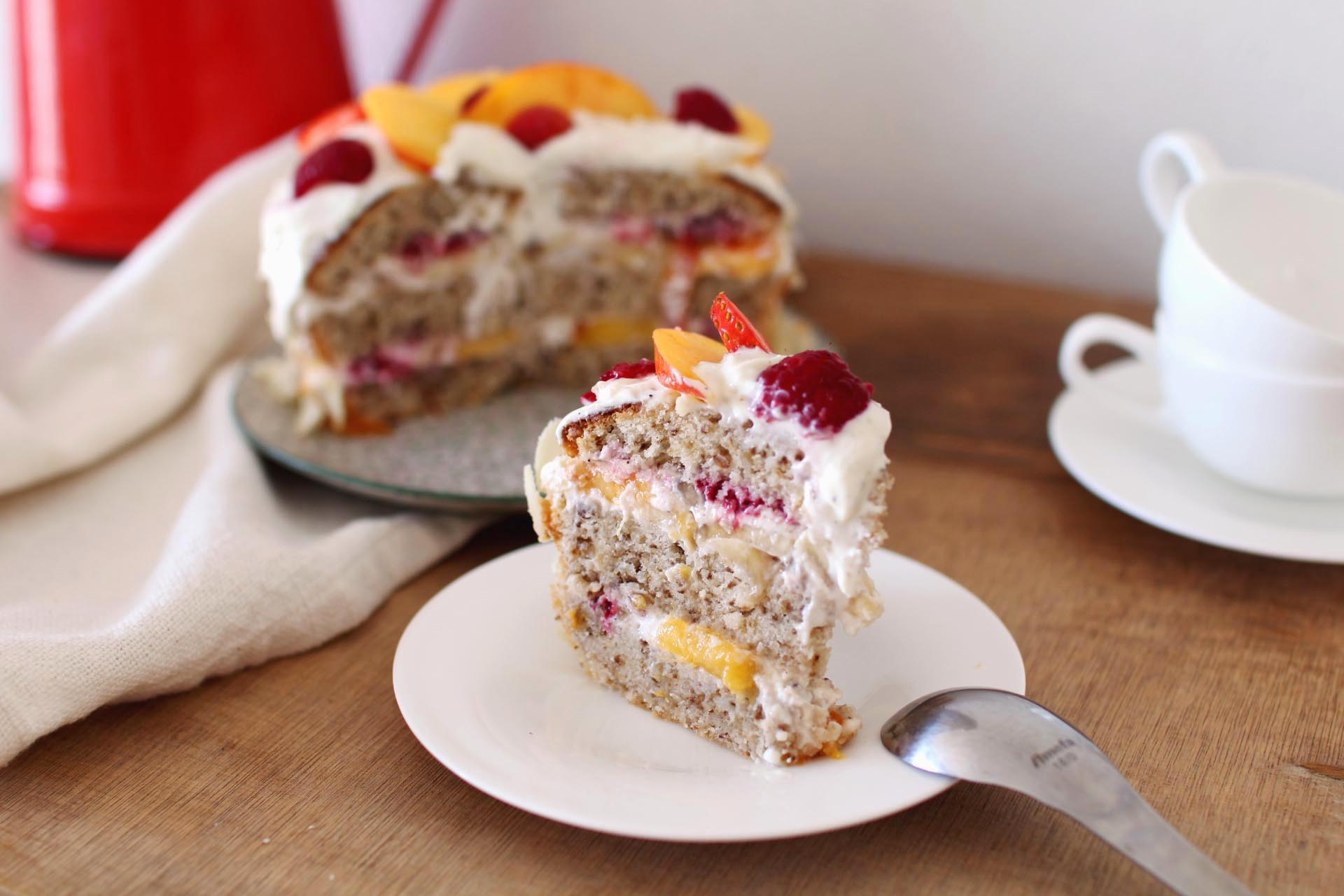 layer cake fruits été