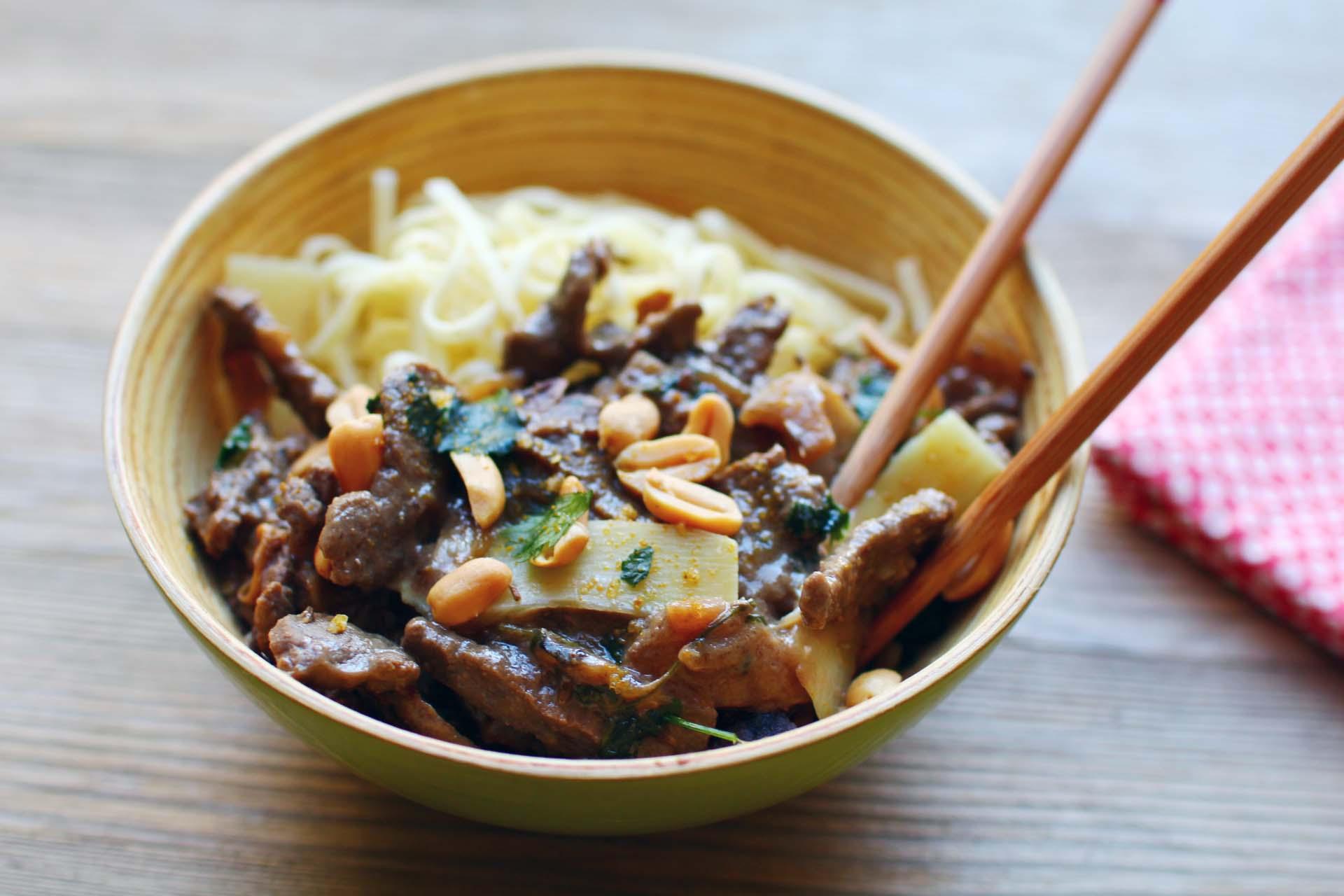 wok boeuf bambou