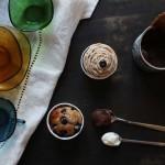 Muffins façon cupcakes au cream cheese, marrons et myrtilles