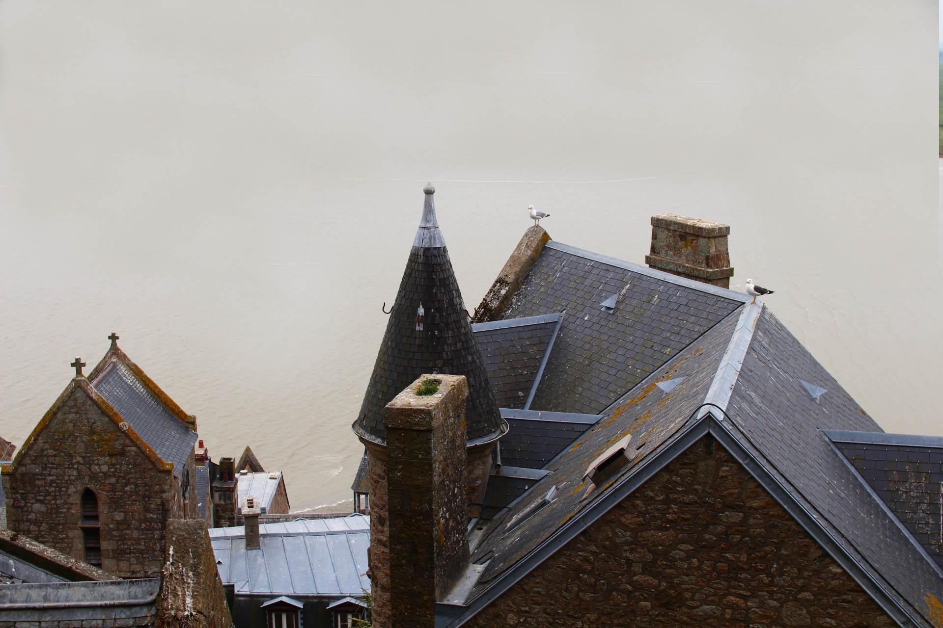 vue abbaye mont saint michel 2