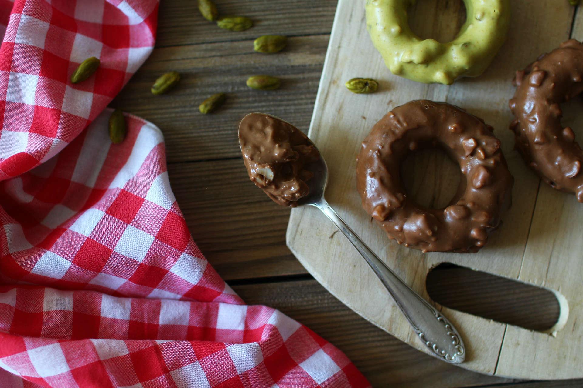 recette gateaux donuts chocolat pistache