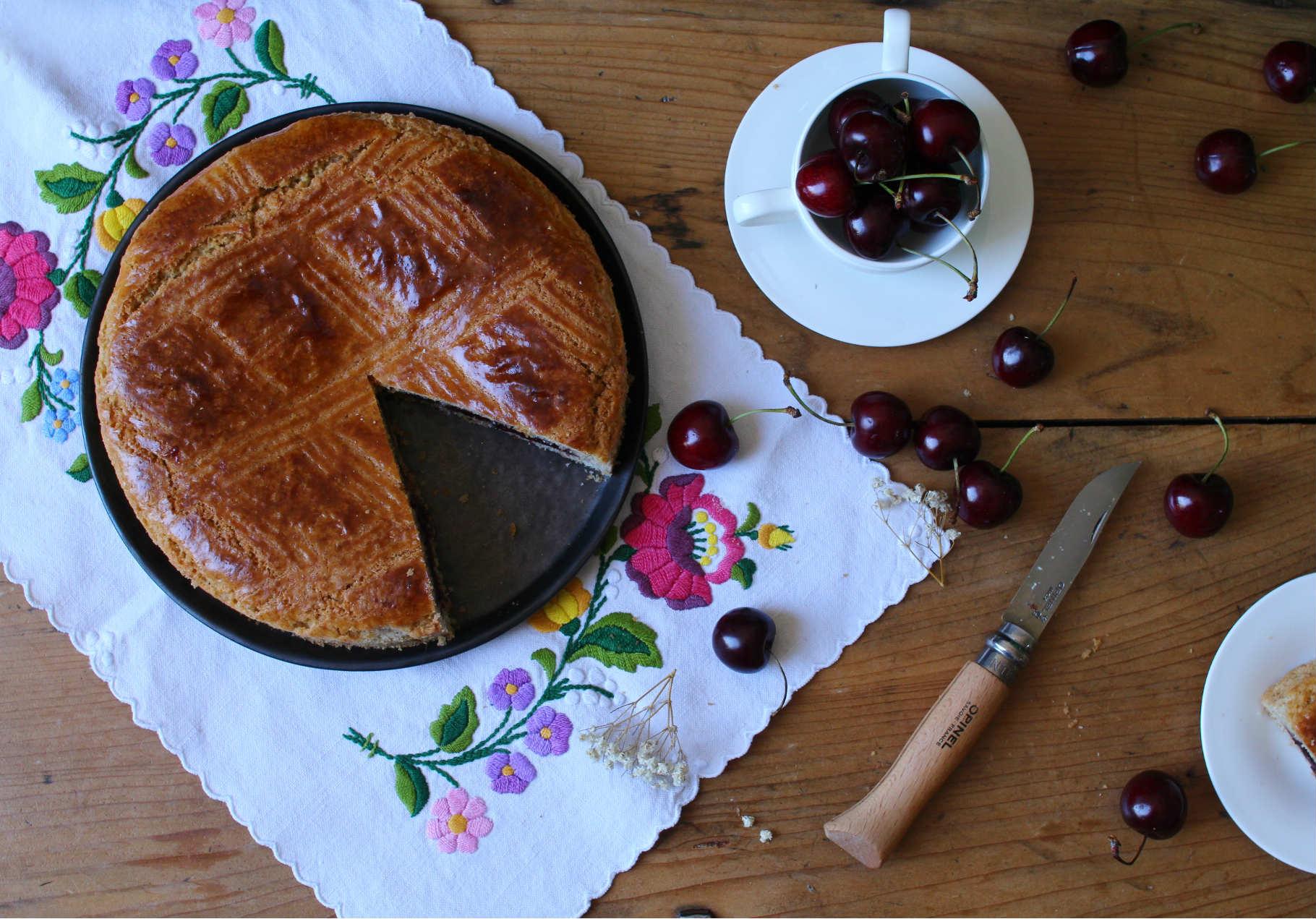 gateau basque cerises recette