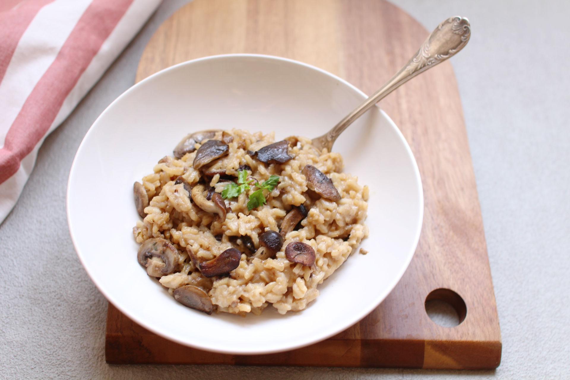 risotto champignons recette
