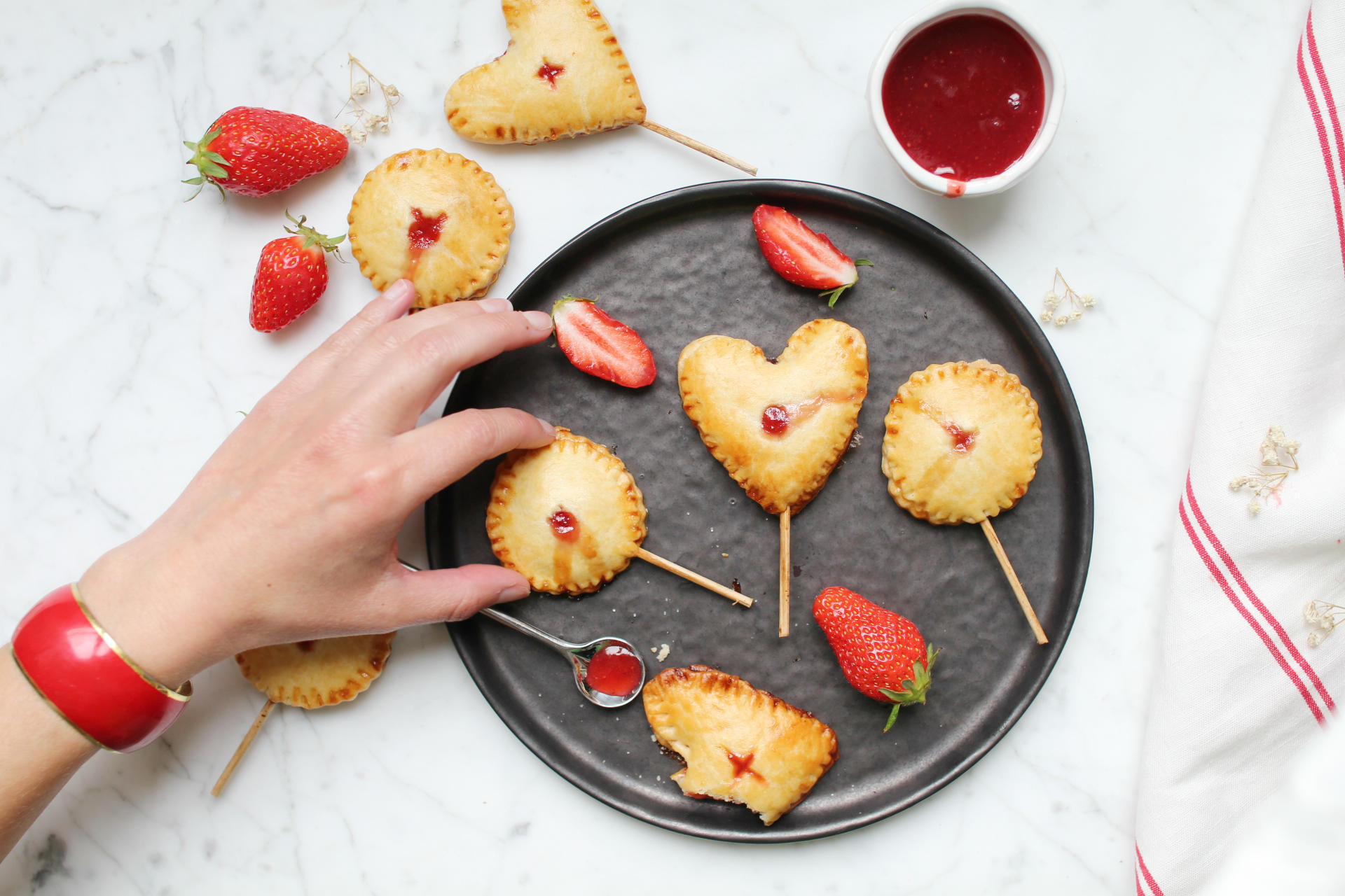 pie pops fraise recette saint louis royal chill blog