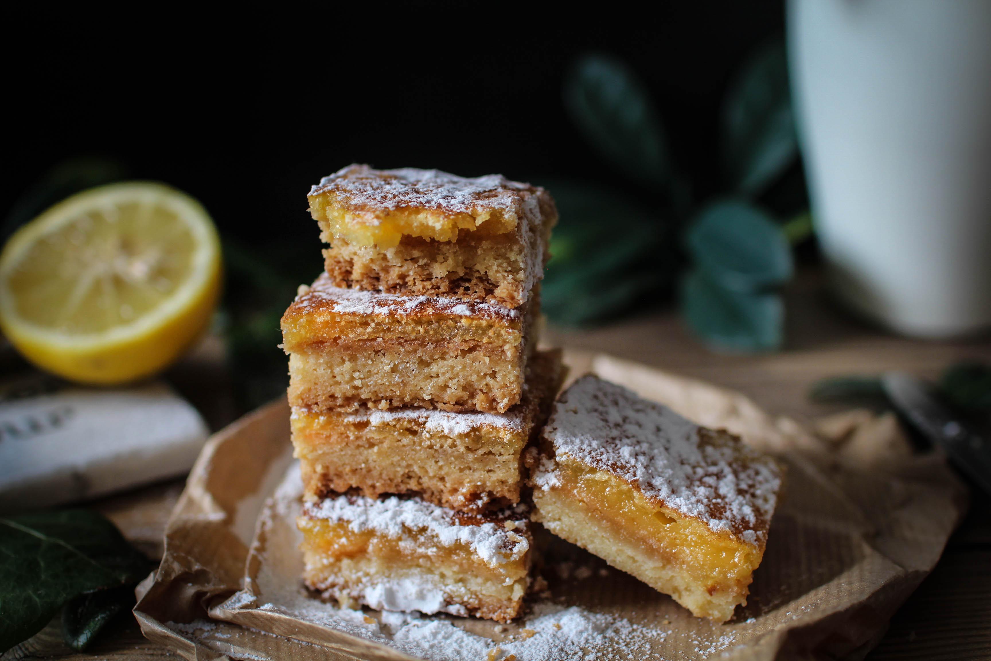 carrés au citron - lemon squares - lemon bars