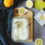 Sorbet au citron {sans oeufs}