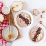 Porridge aux poires et au chocolat, ma recette facile !
